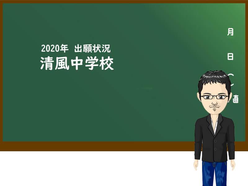 清風中学校 出願状況