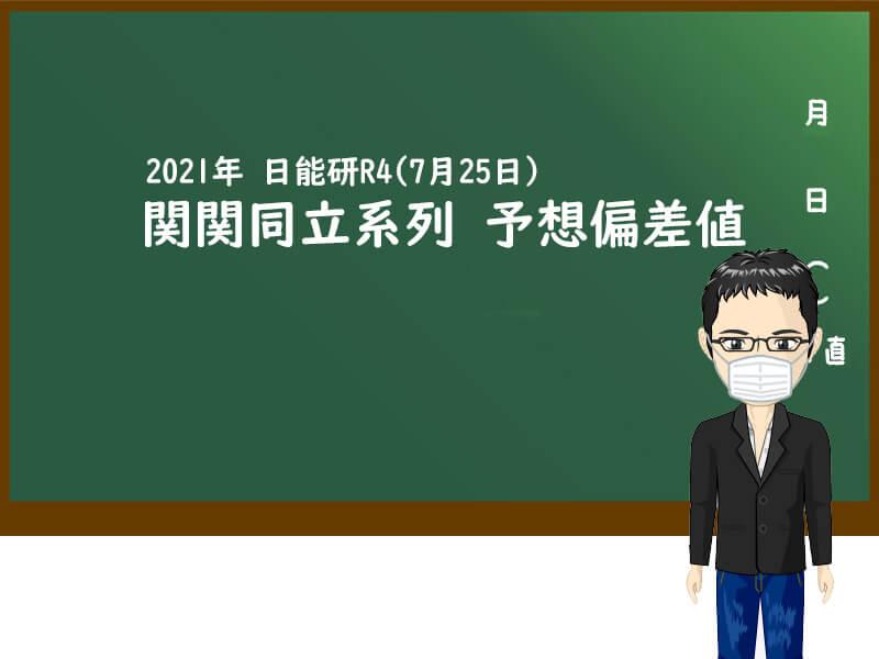 2021年日能研 予想偏差値(7月25日版) 関関同立系列