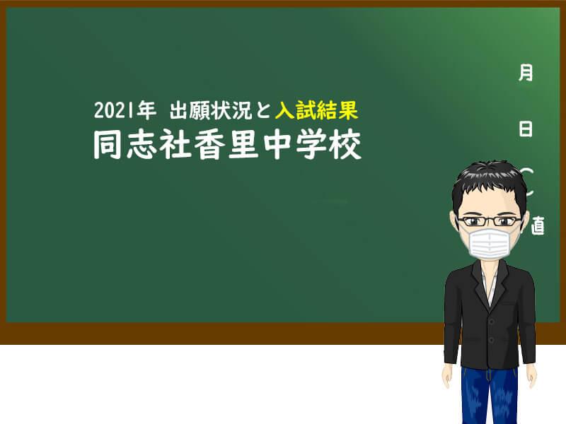 2021年同志社香里中学校出願状況と入試結果