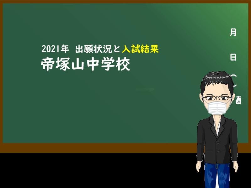 2021年 帝塚山中学校 出願状況と入試結果