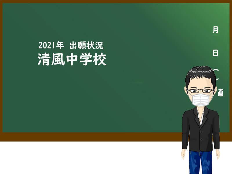 2021年 清風中学校 出願状況